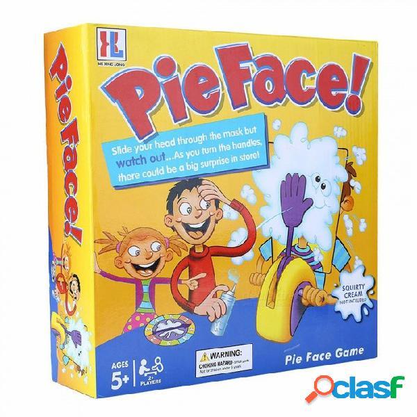 Shocker torta de juguete pastel de crema cara partido de la familia divertido juego, chiste divertido broma gags bromas contra el estrés juguete amarillo / tamaño