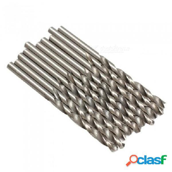 10 unids 4 mm hss micro torcedura brocas de carpintería taladro conjunto de herramientas para taladro eléctrico carpintero de madera herramienta de agujero de metal de plástico 10 unids