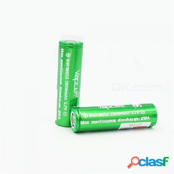 2 pcs vapcell 18650 200mah 28a 3.7v batería recargable de litio de alta capacidad, inr18650 continua