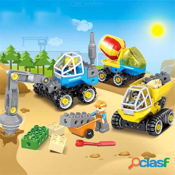 Bloques De Apilamiento De Vehículos De Ingeniería Educativa Grandes Juguetes De Construcción Para Niños Pequeños