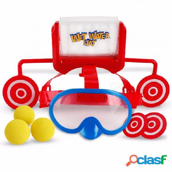 cabeza mojada agua sombrero objetivo juego niños familia amigos partido divertido broma desafío sombrero juguete, gafas tapa juguete en / al aire libre amarillo / tamaño
