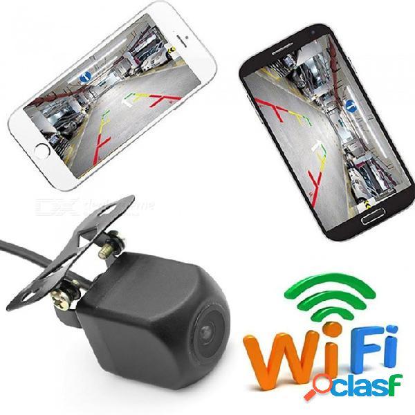 Esamact wifi cámara de marcha atrás cámara de visión nocturna visión nocturna del coche cámara de visión trasera cuerpo tacógrafo a prueba de agua para iphone y android