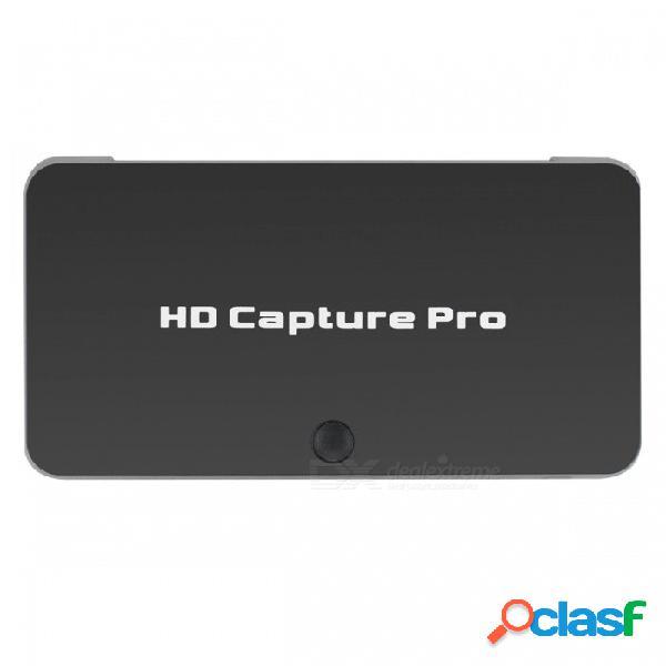 Ezcap 295 1080p hd 1080p captura de video hdmi compatible con hdcp / ir / modo de reproducción y más - negro