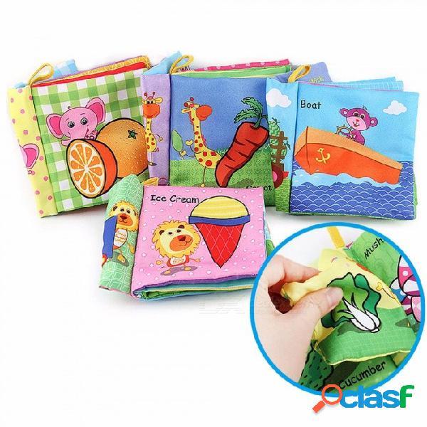 Libros de educación infantil libros de tela para bebés no tóxicos / insípido / la lágrima no es mala / no se desvanece de color rosa