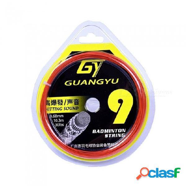 Raqueta de bádminton cuerdas fibra duradera y elástica de alta calidad recomendar línea de bádminton red 0.68mm blanco