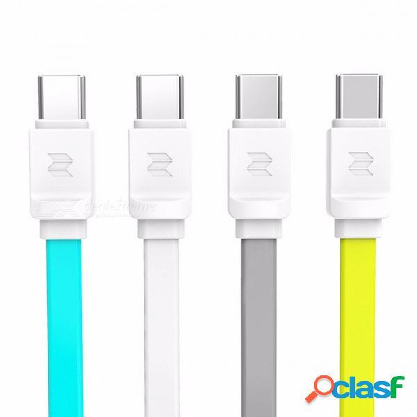 Rockspace cable usb tipo c para nexus 5x 2.0a cable usb c cables de datos de carga rápida tipo-c cable cargador usb para oneplus 2 usb-c 1m / amarillo