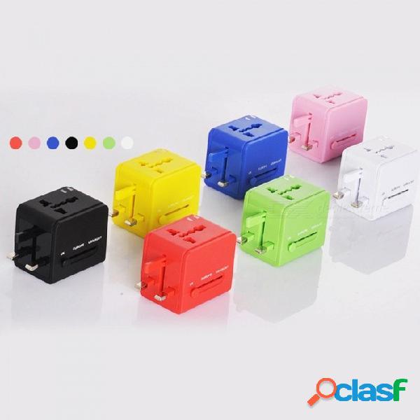 Adaptador usb multifuncional adaptador de enchufe eléctrico internacional accesorios de viaje adaptador universal / blanco