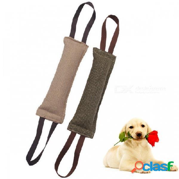 Entrenamiento de mascotas palo de seguimiento morder oxford paño roer juguetes perros formación productos interactivos mordedura de perro suministros ejército verde / xl