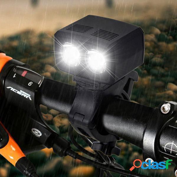 Luz de ciclismo usb recargable aibber tone 2 x xm-l t6 led frontal bicicleta faro 5 modos antorcha accesorios de bicicleta