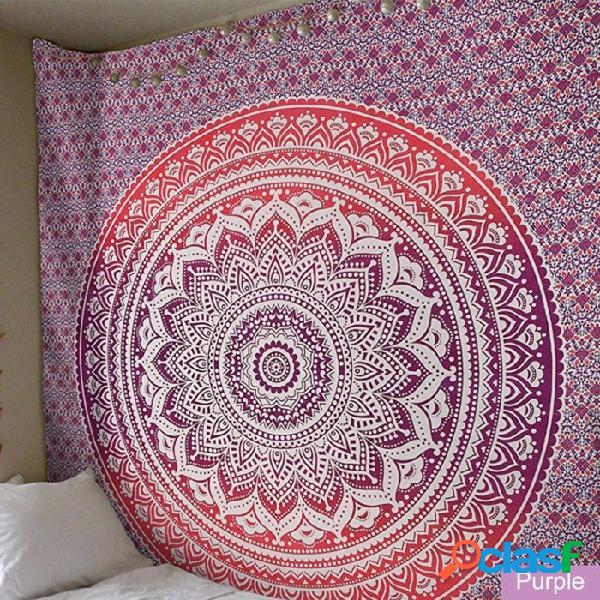 Mandala cortinas decorativas colorido simetría geométrica tapiz gráfico atractivo toallas de playa sala de yoga decoración de color caqui / un tamaño