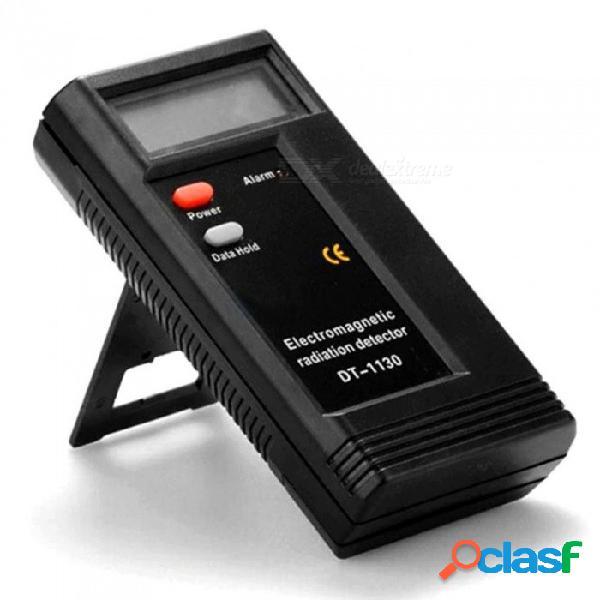 Professional lcd digital electromagnetic radiation detector, emf meter dosimeter tester radiation measuring tool black