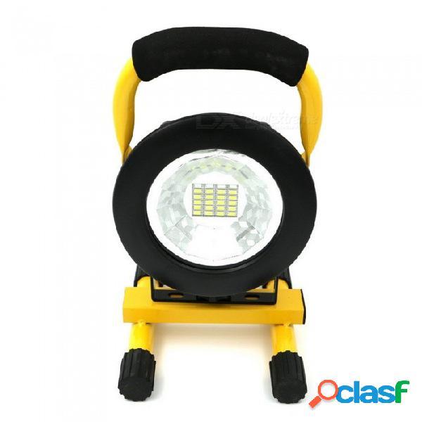 20 + 4led luz de césped fuerte luces de trabajo de alta potencia usb recargable impermeable iluminación ambiental amarilla