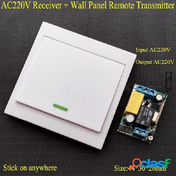 Ac 220 v receptor panel de pared transmisor remoto interruptor de control remoto inalámbrico dormitorio luces de techo lámparas de pared inalámbrico tx blanco