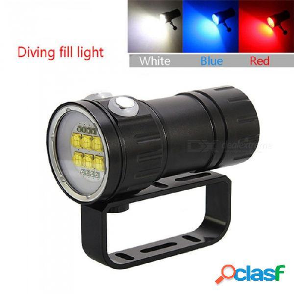 Esamact qh14-4 buceo linterna led cree xhp70 actualizar xhp90 cámara de fotografía submarina llenar luz roja azul luz uv buceo