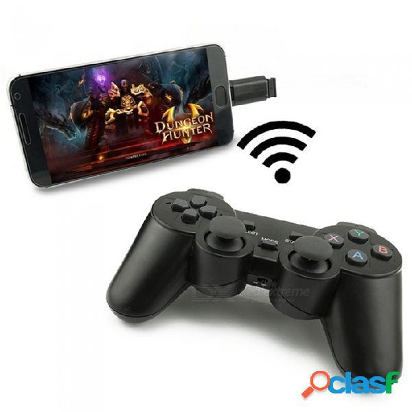 Gamepad inalámbrico controlador de juegos para teléfono móvil pc joystick con pc para windows win7 / win8 / win10 / android / steam game black