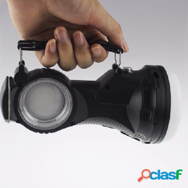 Led portátil de energía solar linterna recargador batería incorporada antorcha lámpara de mano linterna exterior luces de camping que emiten blanco