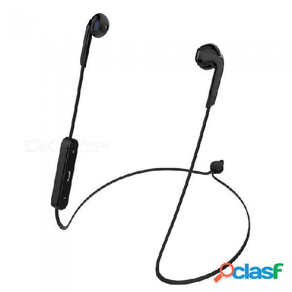 Ojade bluetooth inalámbrico v4.2 auriculares banda para el cuello deportes auriculares estéreo bajo para xiaomi / iphone - negro