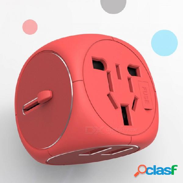 Universal multifunción mini portátil 100 ~ 250v adaptador de viaje dual usb ue ee. uu. au reino unido enchufe adaptador de alimentación de carga enchufe universal / negro
