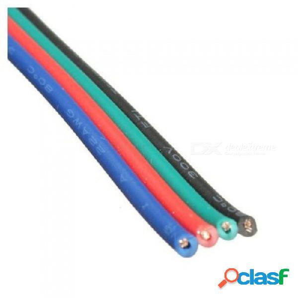 Cable de cable de conector de extensión de cable de 4 pines para led rgb tira 3528 5050 conector colorido para 50m de longitud 50m