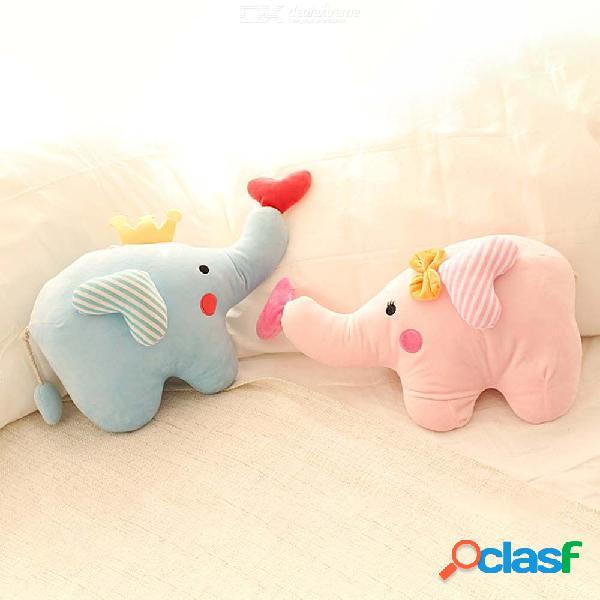 Dibujos animados elefante peluche juguete pareja amor bebé animal muñeca bebé comodidad juguete almohada