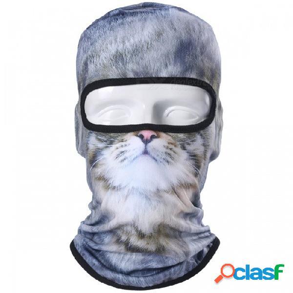 3d animal gato perro tigre estilo pasamontañas bicicleta bicicleta sombrero, fiesta de snowboard halloween casco forro de invierno cálido mascarilla completa