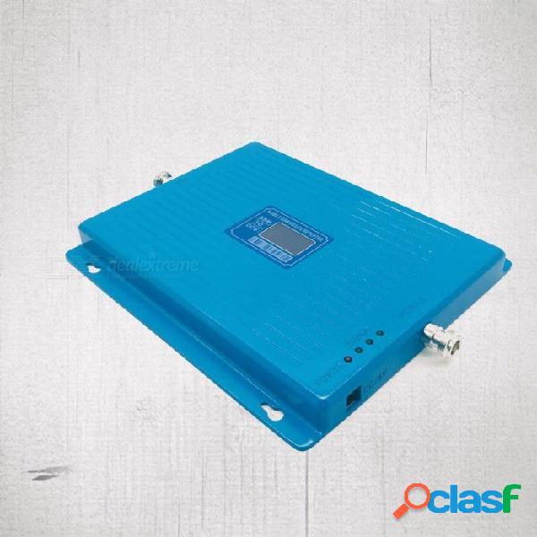 900 1800 2100 tri-band amplificador de señal amplificador de señal de teléfono móvil amplificador de teléfono celular gsm dcs wcdma - azul enchufe de los estados unidos