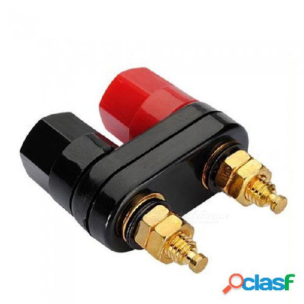 Conectores de pareja de alta calidad terminal de amplificador terminal vinculante enchufes de plátano - negro + rojo