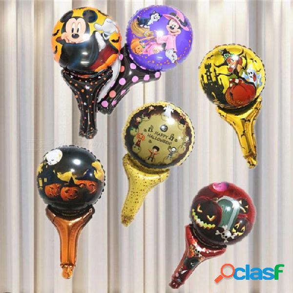Mickey minnie spider skull stick balloon, lindo globo de mano para niños juguetes para niños, fiesta de cumpleaños halloween decoración multi