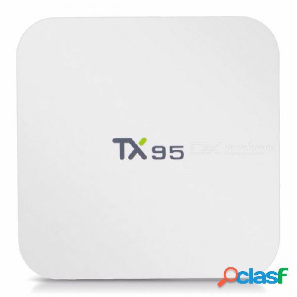 Tx95 android 7.1 s905w quad-core 2.4 ghz + 5.0 ghz wi-fi 4k reproductor de medios para tv con 2gb de ram, 16gb de rom