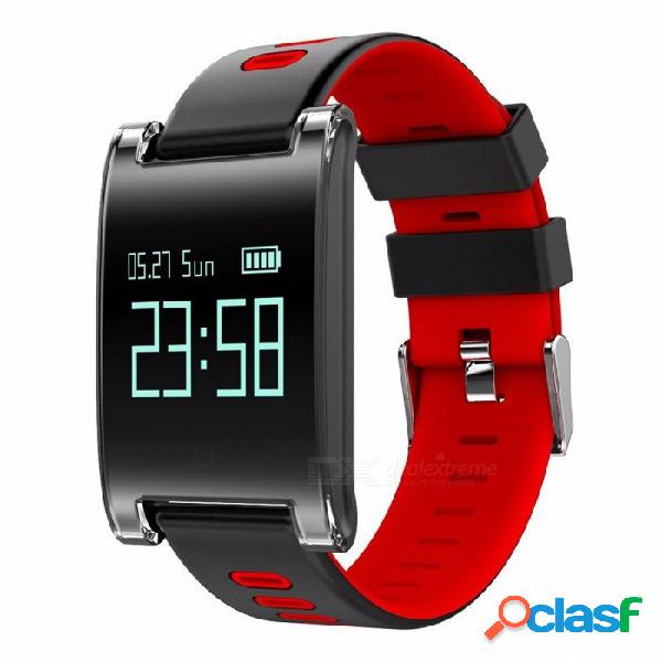 Makibes dm68 plus smart watch monitor de ritmo cardíaco de presión arterial bluetooth pulsera de fitness llamada recordatorio de actividad seguidor agregar correa roja
