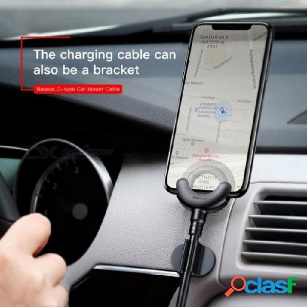 Soporte para teléfono para iphone x 8 7 6 5s soporte para teléfono móvil con soporte de teléfono móvil con gps de 360 grados para cable de carga para iphone