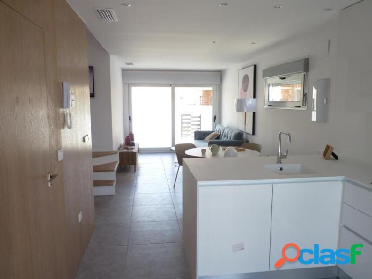 Adosado 3 dormitorios, 2 baños, jardín y solárium privado en San Javier 1