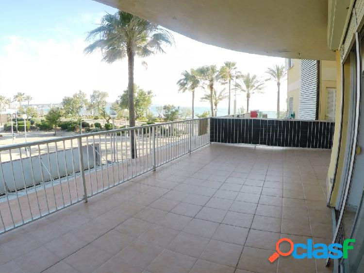 Fantástico piso de 2 habitaciones con gigante terraza en primera línea del arenal