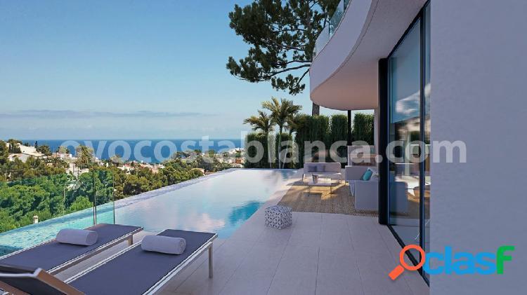 Villa moderna con vistas al mar en benissa