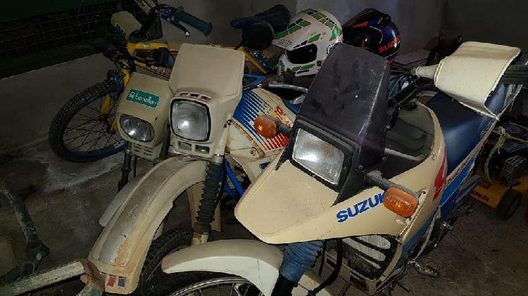 3 motos. suzuki dr 50 big. puch cóndor. vespino.