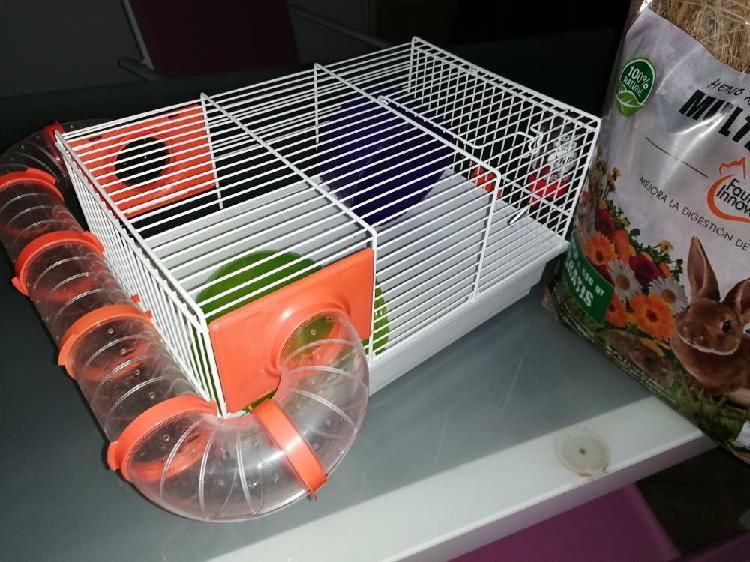 Jaula hamster con accesorios