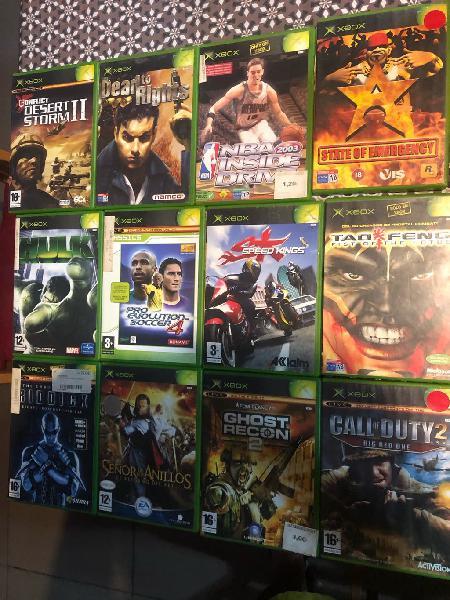 Lote juegos completos xbox original