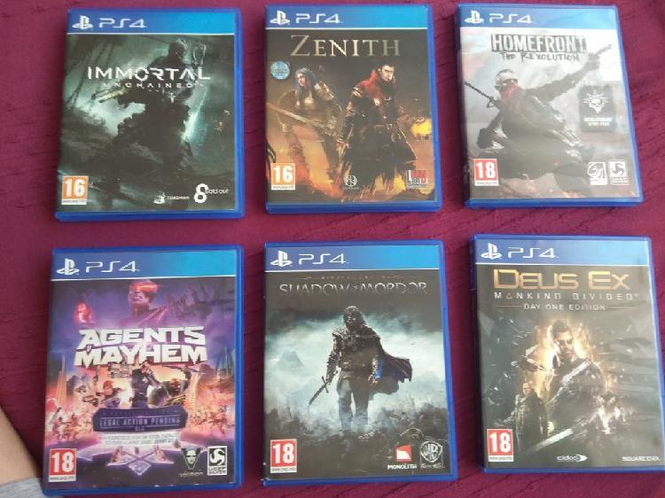 Pack de 6 juegos ps4