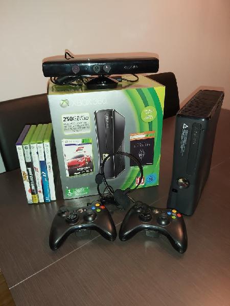 Xbox 360 - 250gb + kinect + juegos