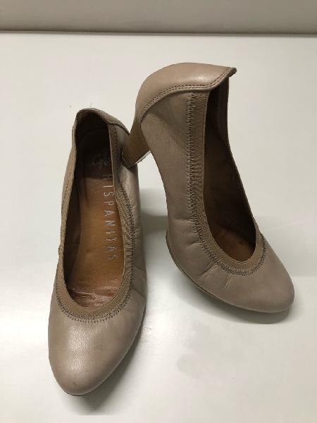 Zapatos tacón piel hispanitas