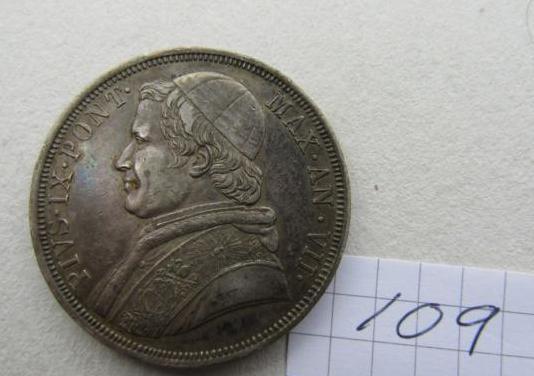 1 escudo 1853 & 5 liras 1870