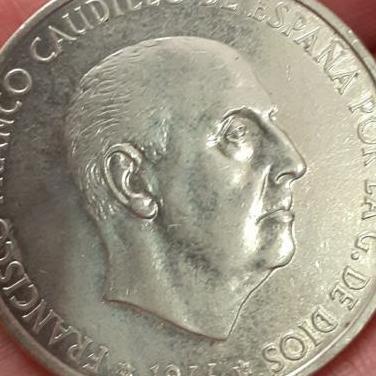 100 pesetas plata franco 1966 *1970