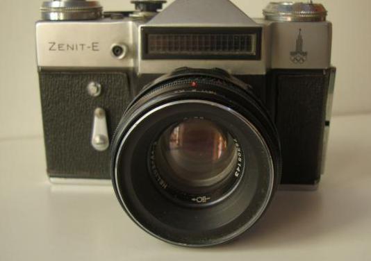 Cámara fotos reflex sovietica zenit-e
