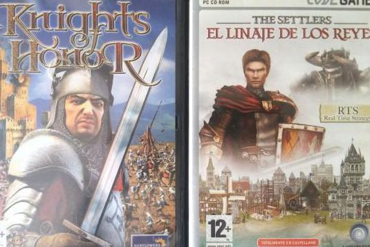 Lote juegos pc knights of honor the settlers