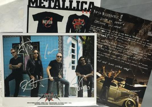 Metallica membership package metclub 2013