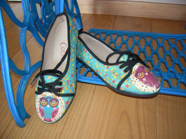 Zapatillas tipo tenis celeste