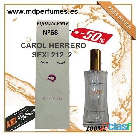 Oferta Perfume mujer CAROL HERRERO SEXI 212 .2 Nº68 Alta Gama 100ml 10€ 2