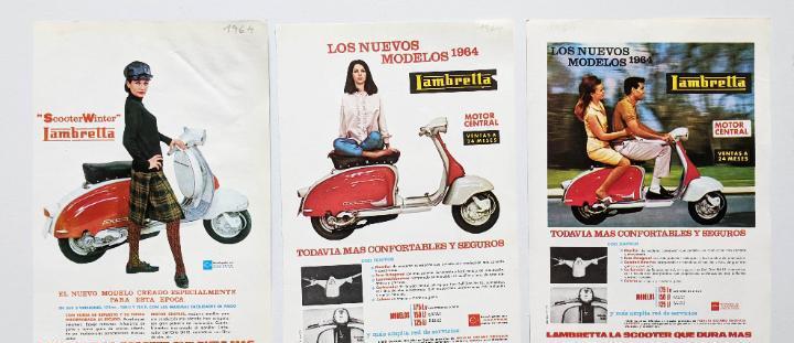 3 anuncios de moto lambretta.año 1964.. vell i bell
