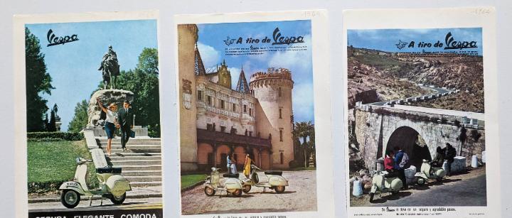 3 anuncios de moto vespa.año 1964.. vell i bell
