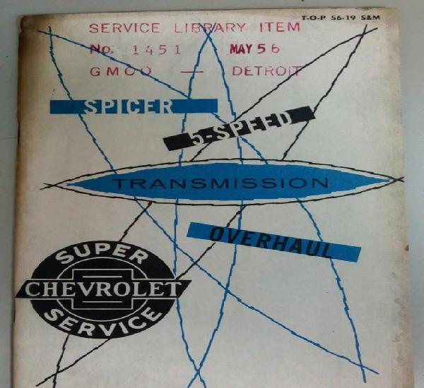 Chevrolet super service, manual de instrucciones en ingles,